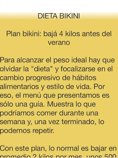 DIETAS Operación Bikini