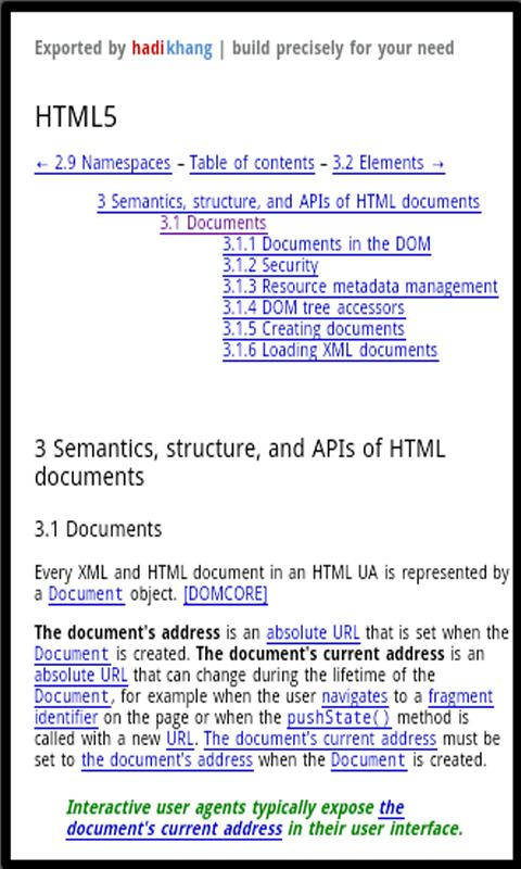 Dev Pocket Reference - HTML5 - screenshot