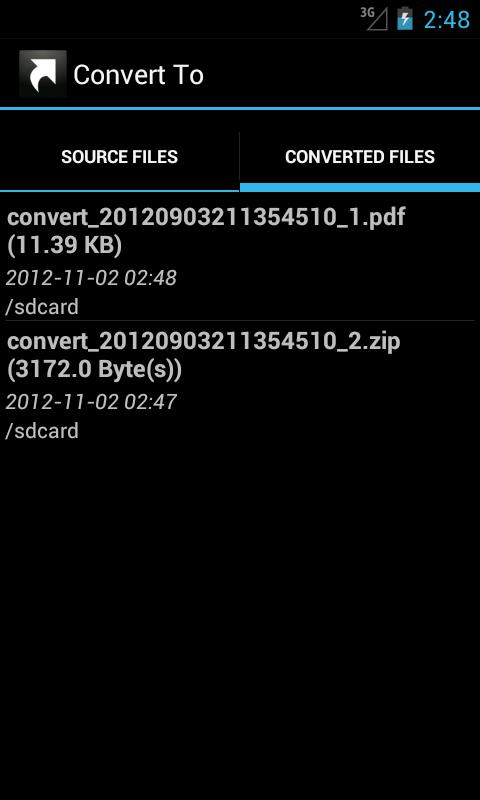 Convert To ...- screenshot