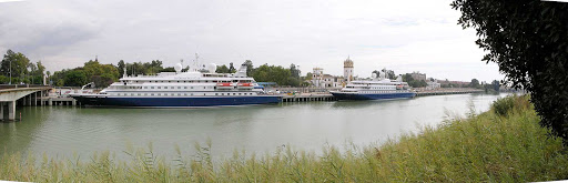 SeaDream-in-Seville-Spain - SeaDream ships are slim enough to sneak up Rio Guadalquivir and call on Seville in southwestern Spain and its stunning Moorish architecture.