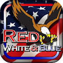 Red White Blue 777 Slot HD icon