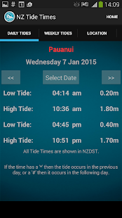 New Zealand Tide Times- screenshot thumbnail