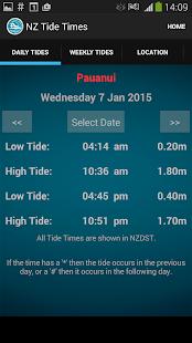 New Zealand Tide Times - screenshot thumbnail