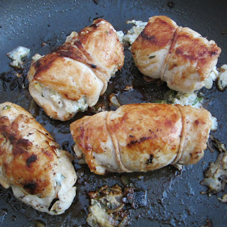 Bundled Chicken with Goat Cheese & Fresh Thyme.