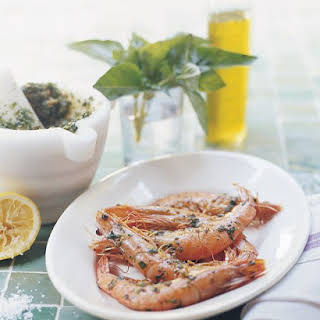 Grilled Prawns with Pistou.