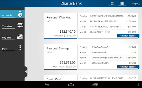 CharterBank - screenshot thumbnail