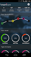 Screenshot of Dreamboard, track your dreams