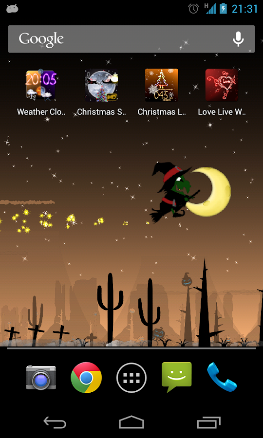Halloween Live Wallpaper Bwch - screenshot