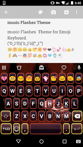 Music Flashes Emoji Keyboard