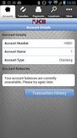Screenshot of JCB Mobile Banking