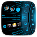 Blue Light Toucher Theme GO icon