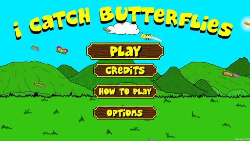 私は蝶を捕まえる i catch butterflies