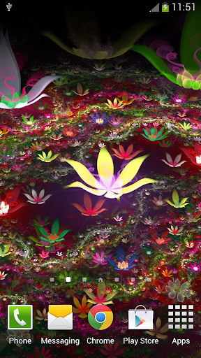 夢幻花朵動態壁紙