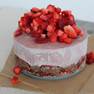 Strawberry Chocolate Mousse Cake (Raw Vegan, Refined Sugar-Free).