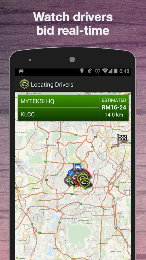 MyTeksi (GrabTaxi) Book A Taxi - screenshot