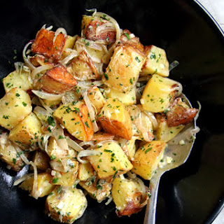 Roasted Potato Salad with Sour Cream and Shallots