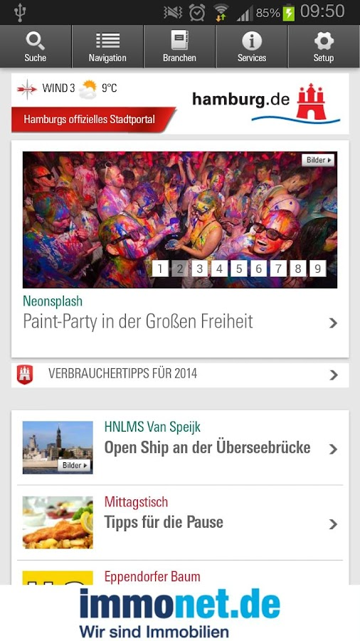 Hamburg App- screenshot