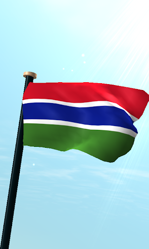 Gambia Flag 3D Free Wallpaper