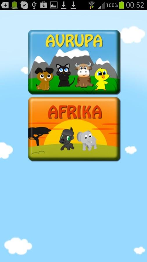 Sevimli hayvanlar hafıza oyunu screenshot