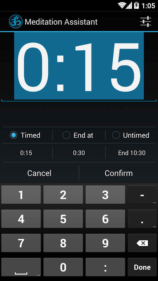 Meditation Timer Assistant- screenshot