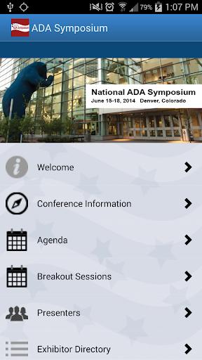 National ADA Symposium