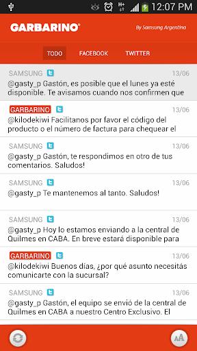 Garbarino Social Widget