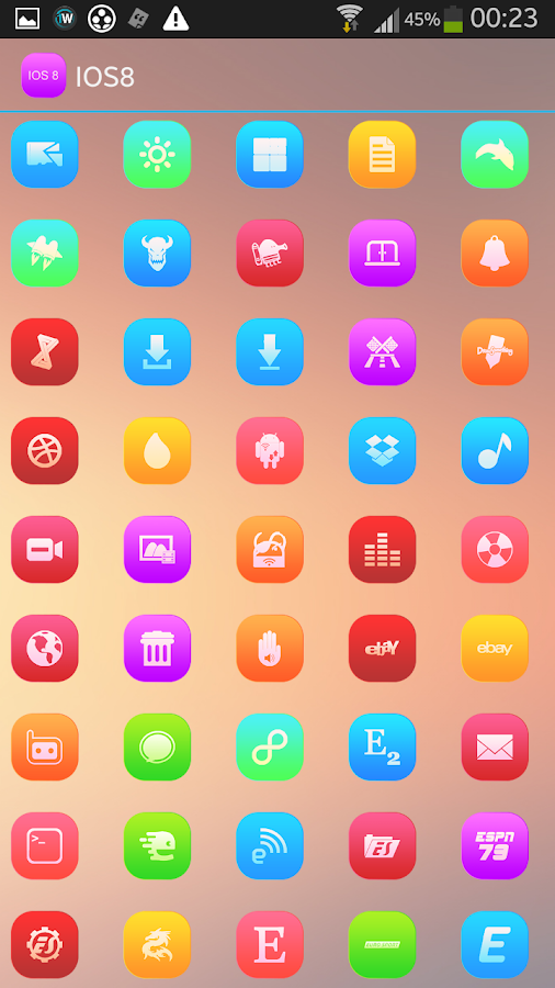 IOS8 ICONS APEX/NOVA/ADW/GO - screenshot