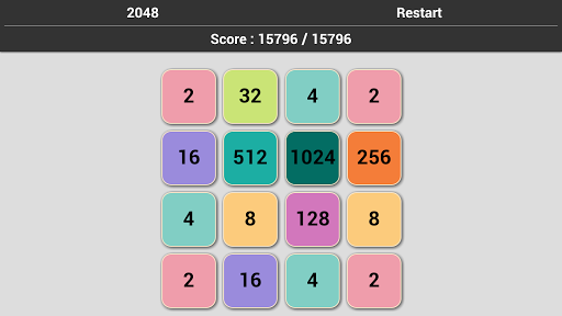 2048 Puzzle game no Ads