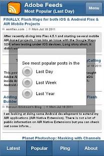 Adobe Feeds Mobile- screenshot thumbnail