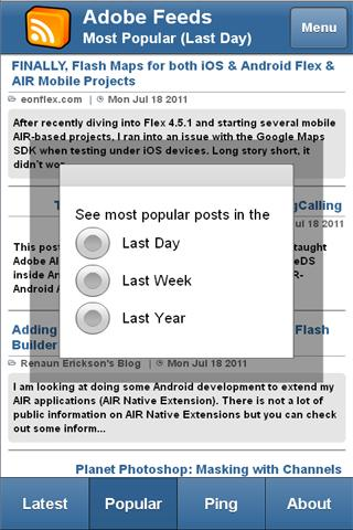 Adobe Feeds Mobile- screenshot