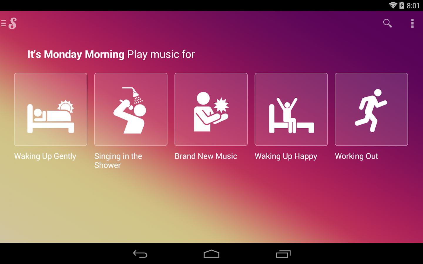 Songza - screenshot
