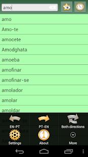 English Portuguese dictionary Ekran Görüntüsü