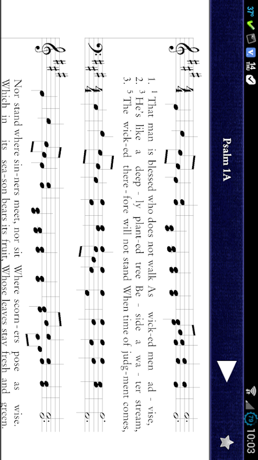 Psalms for Worship - screenshot