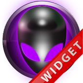 Poweramp Widget Purple Alien