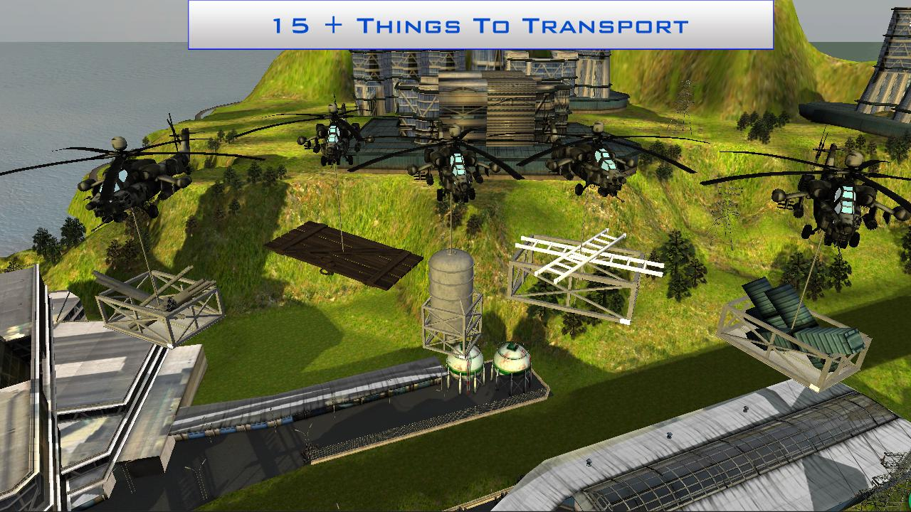 Helicopter Transporter 3D- screenshot