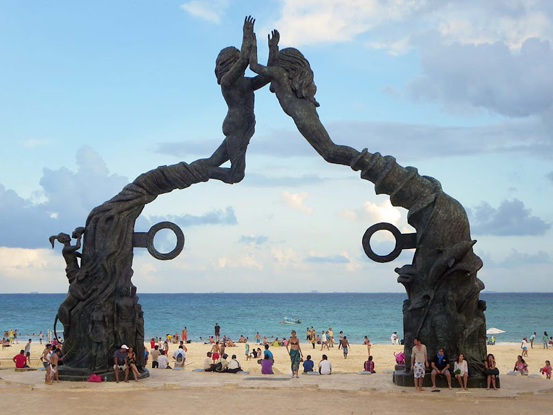 The Portal Maya was erected in Playa del Carmen, Mexico, to mark the end of the Mayan calendar on Dec. 21, 2012. The rings derive from an ancient Mayan ball game.