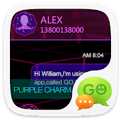 GO SMS PRO PURPLE CHARM THEME