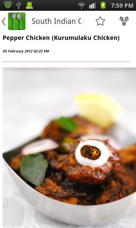 South Indian Cooking - screenshot