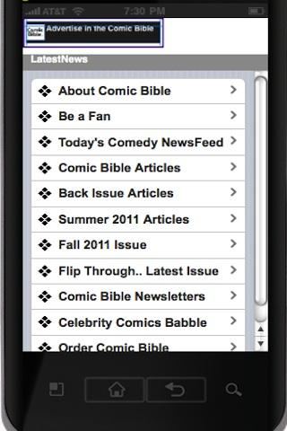 Comic Bible Magazine- screenshot