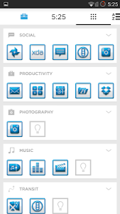 BluWhiteCarbon Icons Launchers v1.0