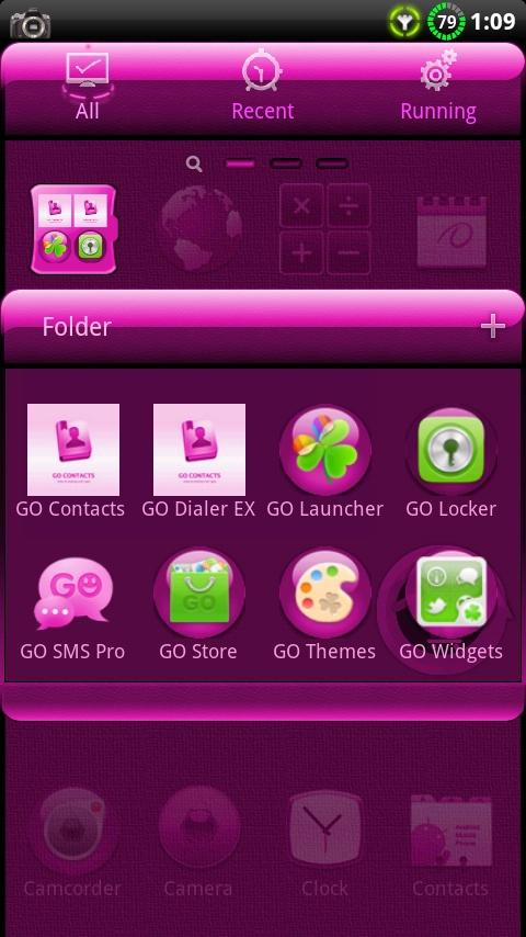 CYANOGEN PINK GO Theme - screenshot