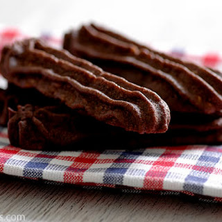 Melt In Your Mouth Cocoa Hazelnut Spritz Cookies
