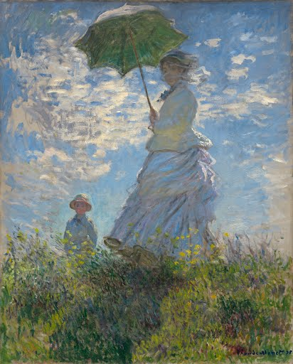 Woman with a Parasol - Madame Monet and Her Son - Claude Monet - Google Arts & Culture