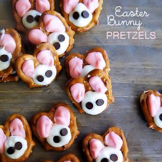 Easter Bunny Almond Bark Pretzels