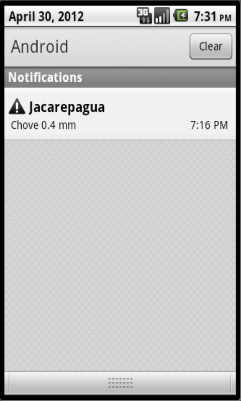 Alerta Chuva Rio - screenshot