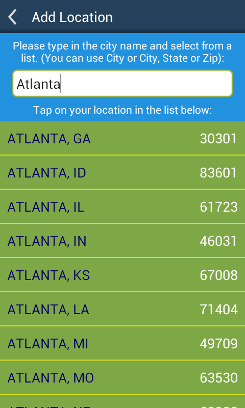 Allergy Alert by Pollen.com - screenshot