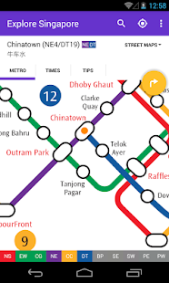 Explore Singapore MRT map- screenshot thumbnail