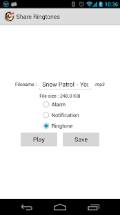 Share Ringtones - screenshot thumbnail