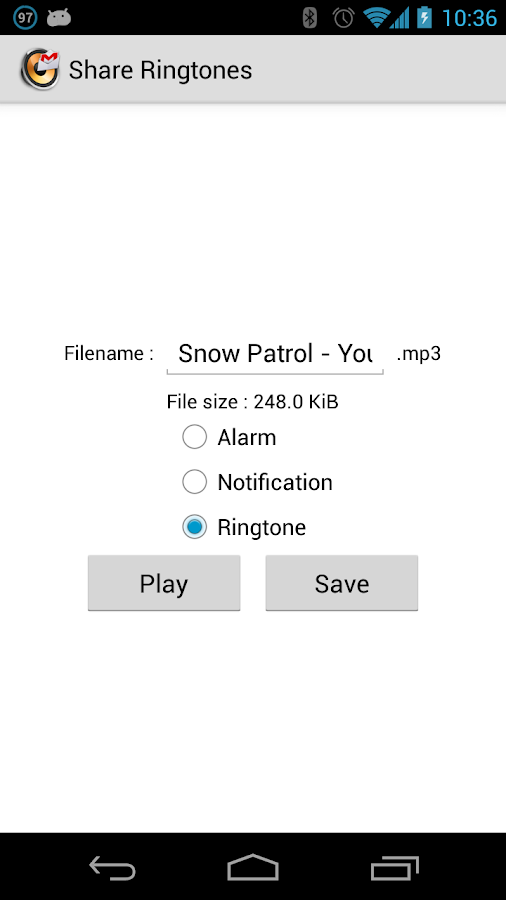 Share Ringtones - screenshot