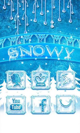 Snowy GO Launcher Theme